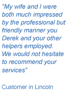 Testimonial Simply Heating Lincoln
